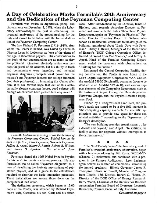 FermiNews, vol. XI, no. 22, page 3