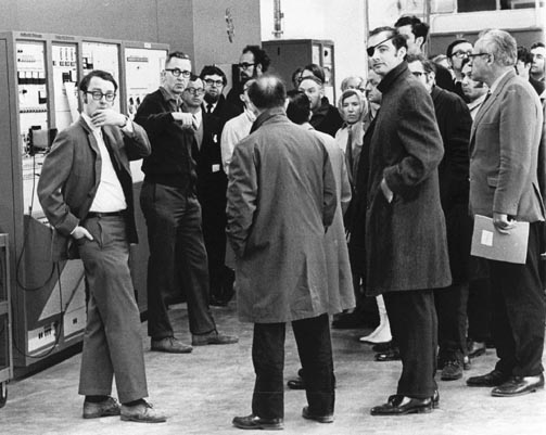 Phil Livdahl Shows Visiting Scientists Around the Linac Building at the NAL Users Meeting April 1970
