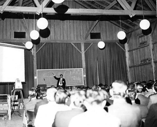 Robert R. Wilson Speaking at the NAL Users Association April 10, 1970