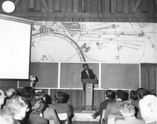 Victor Weisskopf Speaking at the NAL Users Meeting on April 30, 1971