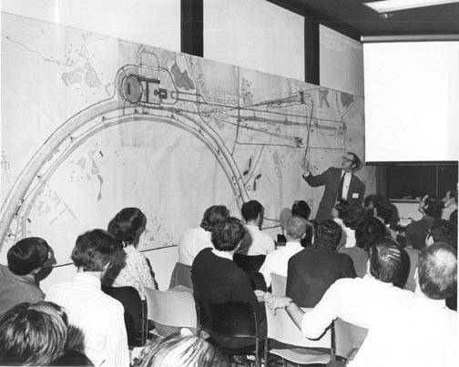Physicist Joe Lach Speaks at the NAL Users Meeting April 21, 1972