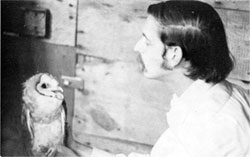 Barn owl meets K. Bell, Lincoln Park Zoo Naturalist