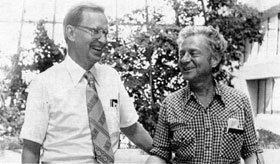 Director-Designate L. Lederman (R) with Acting Director P. V. Livdahl