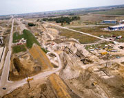 Excavation of the Proton Area (September, 1971)