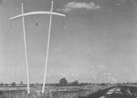 NAL's distinctive power poles cross the Illinois prairie
