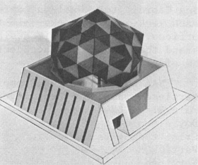 A model proposed geodesic dome for Bubble Chamber building