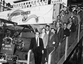 "Argonne National Laboratory group responsible for moving the 30"" Bubble Chamber from Argonne"