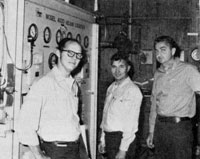 (L to R) J. White, G. Athanasiou, and R. Niemann were part of the magnet test effort