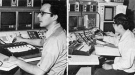 L to R) Physicists E. Malamud and R. Yamada are involved both in Main Ring operations and in Experiment 36