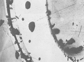 First tracks in NAL 15-Foot Bubble Chamber