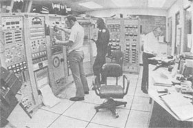 J. Stoffel, J. Fogelsong, W. Fowler in Control Room during test run