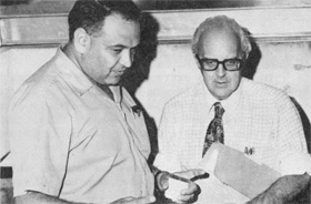 Miguel Awschalom, Lionel Cohen watch final preparation