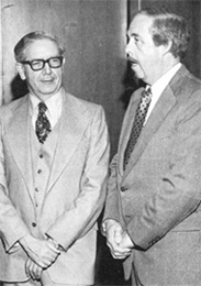 H. Hinterberger (L) with R.H. Bauer, Manager, ERDA Chicago operations office