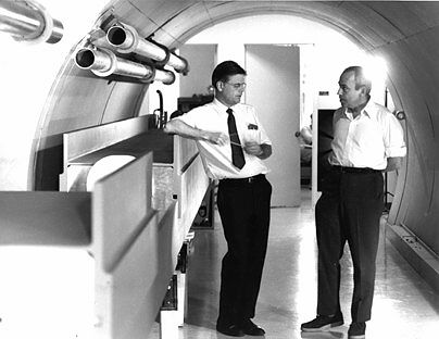 Robert R. Wilson, Director of Nal, and Edwin L. Goldwasser, Deputy Director of NAL, 1967